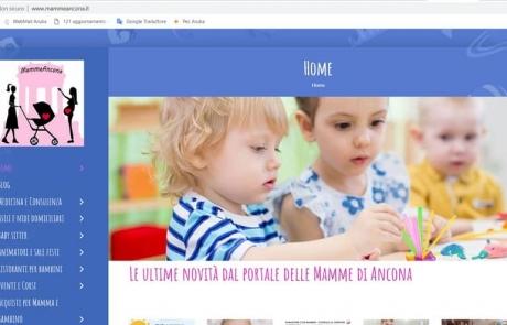 Sito web Ancona agenzia Mamme Portale Blog Influencer ottimizzazione seo google web marketing Marche