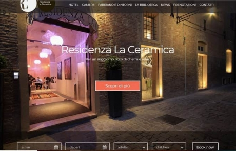 Sito web Hotel 4 stelle Residenza La Ceramica B&B Affittacamere Campeggio sito internet seo ottimizzazione restyling Fabriano