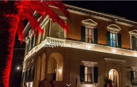 Villa Gentiloni location storica Luca Paolorossi realizzazione sito web vetrina seo indicizzazione Ancona Macerata Ascoli Pesaro Filottrano