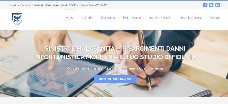Creazione sito web internet realizzato Sinistri e malasanità San Marino Rimini Riccione Pesaro Urbino